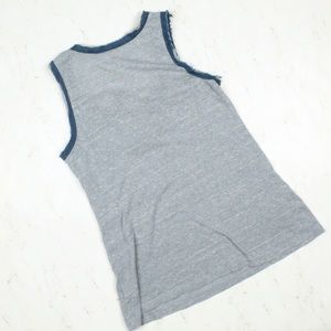 702a268db55a Anthropologie Tops | Anthro Ckeer Blue Jeweled Scraps Tank Large ...
